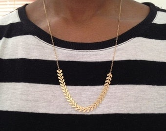 Gold Chevron Necklace Rose Gold Chevron Necklace Gold Arrow Necklace Rose Gold Arrow Necklace Birthday Gift Gift for Her Gift For Friend