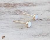 Opal stud earrings, gold opal earrings, opal earrings, classic earrings, stud earrings, Gold filled earrings - 21030