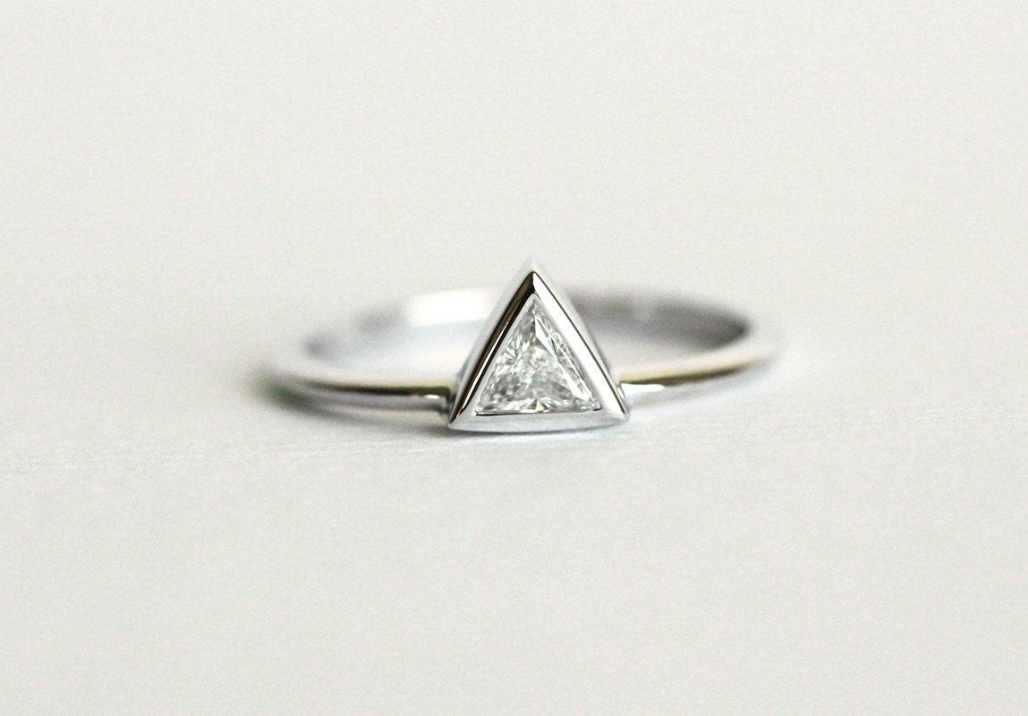 triangle engagement ringtrillion ring trillion