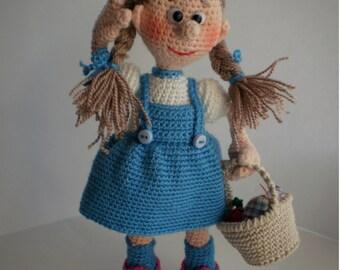 Dorothy of Oz - Crochet Pattern by ToyMagic [PDF Instant Download Amigurumi]