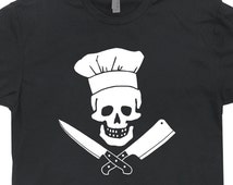Chef T Shirt Culinary T Shirts Chef Skull Shirts Grill Sergeant Cooking Tshirt Worlds Best Cook Ever Apron Hat Pirate cool womens mens Kids