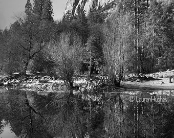 Yosemite El Cap in Black & White.  Nature Photography on Canvas