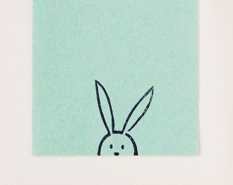Bunny rubber stamp, Easter gift, bunny kids gift, rabbit gift, birthday gift bunny, cute stationery, minimalist stamp, best friend gift
