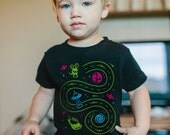4T, Space Shirt, Kids Christmas Gifts, Car Track Shirt, Play Mat Shirt, Toddler Gift, Outer Space Birthday, Toddler Boy, Race Track