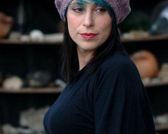 Arbacia sideways knit beret PDF knitting pattern (instructions)
