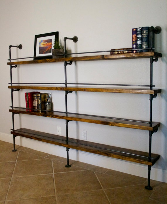Industrial shelving unit industrial bar industrial for Wooden bar unit