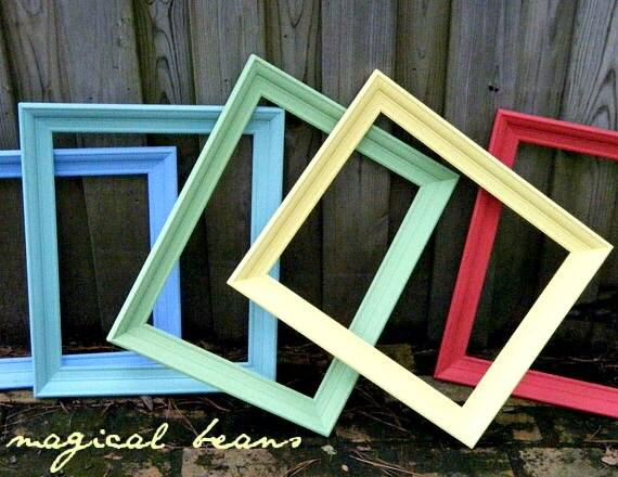 vintage solid wood 16x20 art canvas frame for by magicalbeanshome. Black Bedroom Furniture Sets. Home Design Ideas