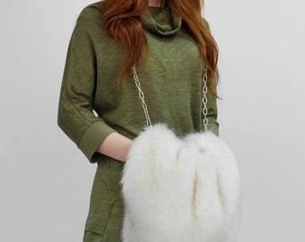 "Faux fur coupling-bag ""Polar fox"""