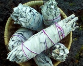 White Sage Smudge Bundle, California White Sage Stick, Sage Smudge Wand, Sage Smudge Bundle, Ceremonial Sage, Sacred Plant Smoke