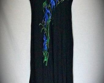 Black 90s FLoor Length Indigo Lily Dress