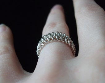 Sterling Silver 4 in 1 Chainmaille Ring