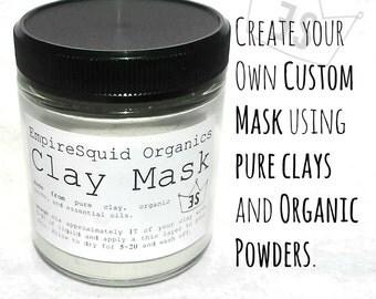 Natural Clay Mask - 8oz - Organic Clay Mask - Bentonite Clay Mask - Pink Clay Mask - French Clay - Rhassoul Clay Mask - Fuller's Earth Clay