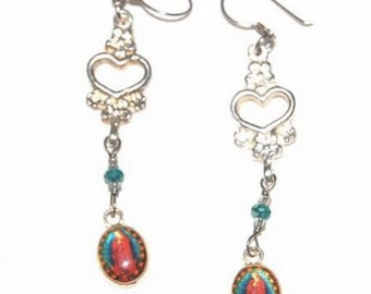 Handcrafted Mexican Guadalupe Earrings
