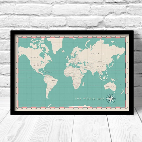 Modern World Map Political World Map Travel Map For Home - World map for home