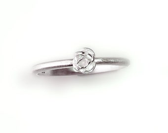 promise ring, pure silver Silver Rose Bud Contemporary engagement ring - handmade by SILVER LOUNGE