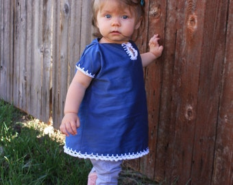 Adorable Childs Blue Shirt/Tunic
