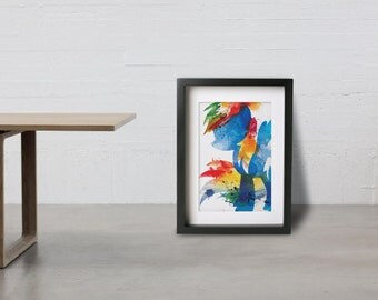 RAINBOW DASH poster - Inspired by the My Little Pony Friendship is Magic series. Watercolor Giclee Print.
