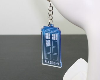 Doctor Who : Tardis Keychain - Allons-Y