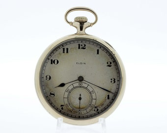 Elgin Pocket Watch Gold Filled