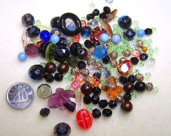 Mixed Beads Jewelry Supply Bead Soup Destash Beads Multi Color Glass Bead Metal Beads for Jewelry Making Loose Beads for Jewelry from Canada
