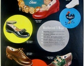 1948 Weather Bird Shoes Vintage Advertisement Bedroom Wall Art Shoe Store Decor Original Magazine Print Ad Childrens Fashion Paper Ephemera