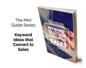 PDF, eBook, Keyword Ideas that Convert to Sales