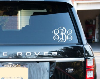 Monogram Car Decal Etsy - Personalized car stickers and decals