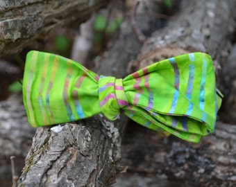 Men self-tie bow tie/freestyle bowtie/green/stripes/colorful/fixed/clip/option/cotton/ adjustable/straight/necktie/bowtie/man bow tie/