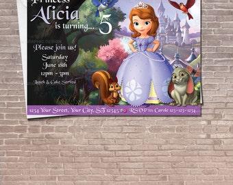 Sofia the First Invitation / Instant Download & Editable / Sofia party / Sofia the first Invitation / Birthday Invitation / PRINTABLE