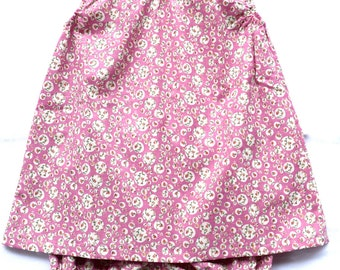 Girl set, dress & matching bloomer, size 3-4 - Handmade, French children's clothing