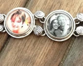 Custom Personalized Photo Bracelet, Ginger Snaps, Snap Charm, Photo Bracelet, Photo Jewelry, Snap Jewelry, Gift for her, Mother's Day Gift