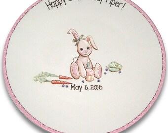 Bunny's First Birthday Signature Platter