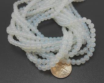 80 Opalite Glass Beads 5mm (H1773)
