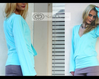 The Good Heart Jersey Wrap Top /  Bohemian Chic Essentials / Custom Made to Order New Colors!