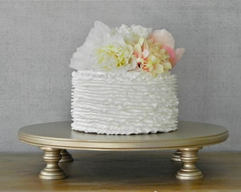 """12"""" Cake Stand Champagne Wedding Round Cupcake Grooms Cake Topper Event Decor By E. Isabella Designs Featured In Martha Stewart Weddings"""
