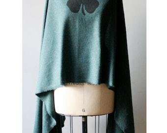 Sale , Women's Scarf , Long Green Shawl, Irish Clover, Wraps and Shawls