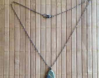 Speckled Gray Stone Necklace