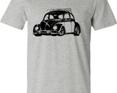 Car T-shirt,VW Beetle T-shirt,Retro VW Bug, Grey t-shirt,car gift, graduation gift,retro car gift,volkswagen,teen gift