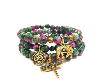 Ruby Zoisite Bracelets