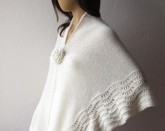 Winter Wedding Shawl, Plus Size Shawl, Bridal Wrap, Warm Shawl, Wedding Shawl