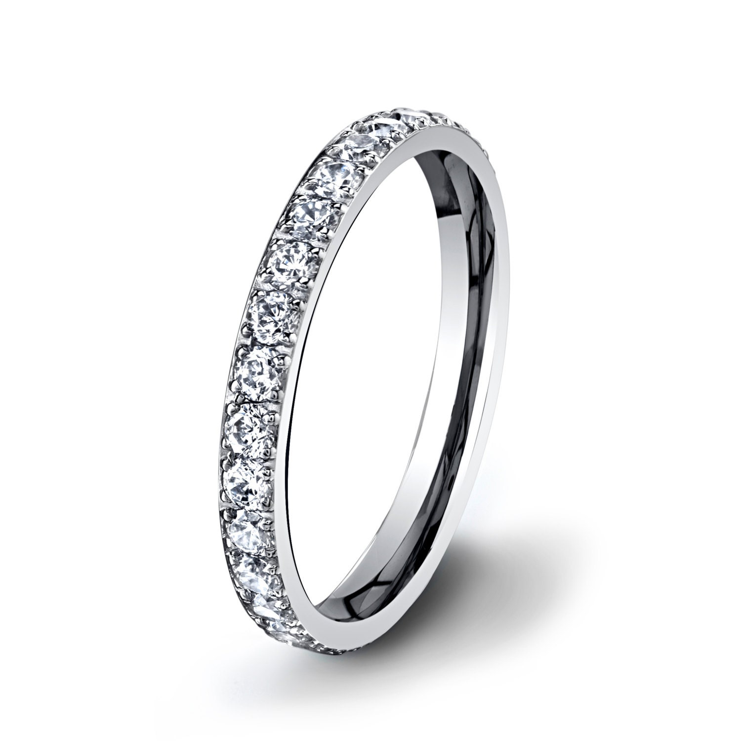 womens titanium ring beautiful wedding band for by. Black Bedroom Furniture Sets. Home Design Ideas