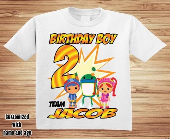 Team Umizoomi Birthday T Shirt - Personalized Custom -