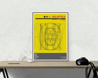 Helv1.0 - Graphic Design Art Print -  Helvetica Typography