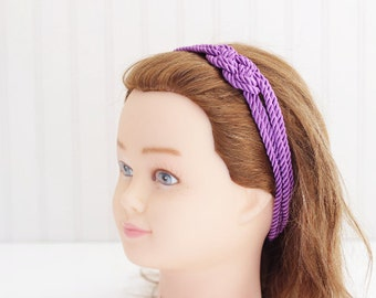 Purple Nautical Knot Headband