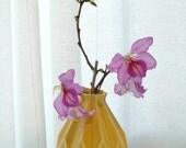 Cermic gift  Geometric flower vase, Yellow ceramic flower vase, Origami inspired Gift idea,Modern Home decor vase