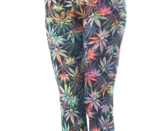 Multi-color Weed leggings