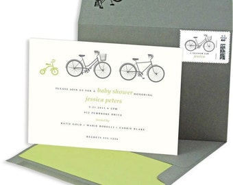 DIGITAL: Bicycle Baby Shower Invitations, Neutral Baby Shower, Boy Shower, Girl Shower, Baby Shower, Gender Neutral Shower Invitations