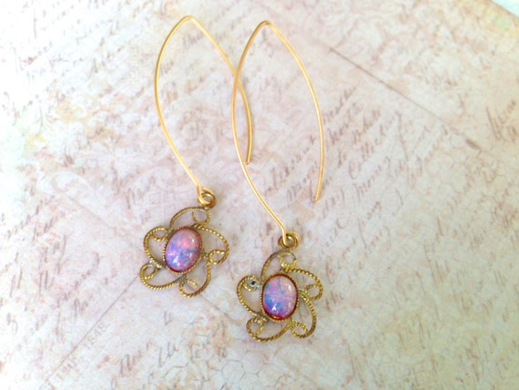 Fire Opal Earrings vintage