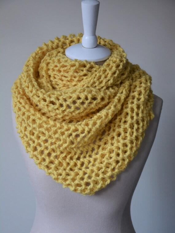 Honey Knit Scarf / Baby Alpaca Spring Infinity by danielastange