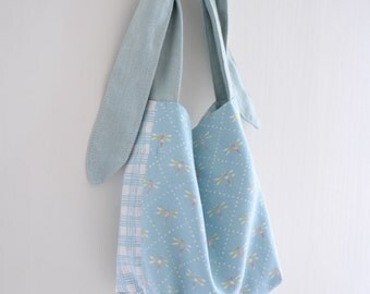 MISS Dragonfly, extra small shopping bag, children handbag, simple everyday reversible market bag